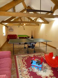 Games room at Bookham, a short walk away from Crowthorne