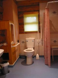 Disabled friendly w/c/wet shower room with shower chair