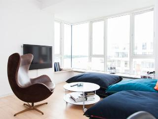 Livingroom and view to the Copenhagen canal