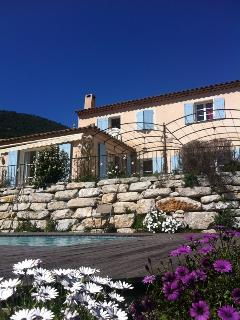 French riviera with sea view