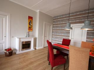 Cosy electric fireplace on 100% sustainable energy