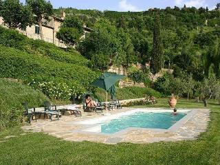 Six bedroom traditional Tuscan villa in Cortona, adjoining annexe apartment, private pool, great for families with kids