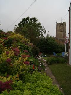 View down the garden towards St George's church