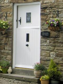 The front entrance. Complete witn stable door for people watching!