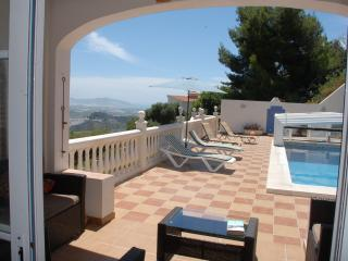 Lounge to covered terrace, private pool and vast sun terraces with spectacular views