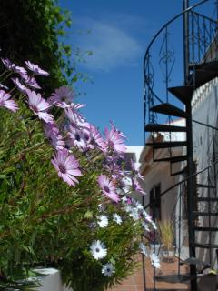 Steps to roof terrace, spectacular views await.