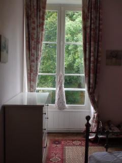 Double room with view of the original fish pond