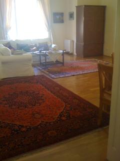 one of the Turkish rugs..and view of the sitting room