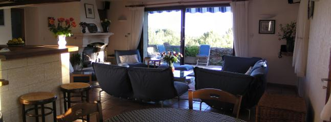Living room from Kitchen, towards terrace