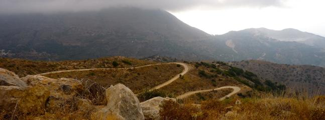 Road above the village of Sfaka