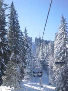 A Picturesque photo of the Ski lift, in Pamporovo.