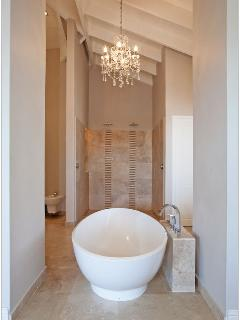 Master Bathroom with shower for two!