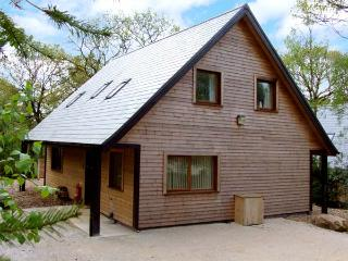 ELLASTONE, detached lodge near Alton Towers, woodland setting, own hot tub, Ref 913350, Farley