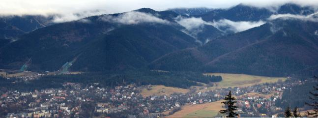 Zakopane from Gubalówka Hill in the Early Spring