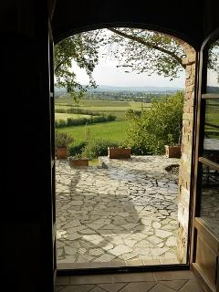 French doors to the patio from the sitting room