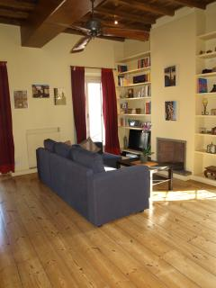 sofabed and living area
