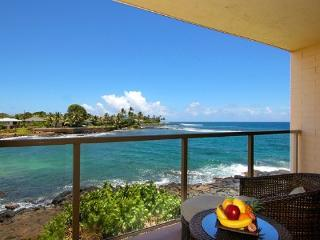 Free Car* with Kuhio Shores 207 - Spectacular oceanfront 1bd with awesome ocean views. Watch the sea turtles from your lanai., Poipu