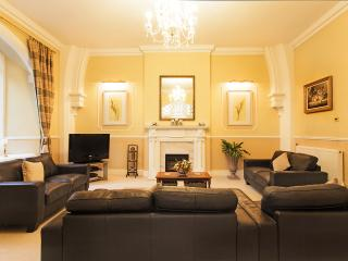 Fabulous 2nd floor lounge with 4 leather sofas, wi games, dvd and  sky tv