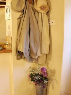 Somewhere to hang your coats at Twine Cottage