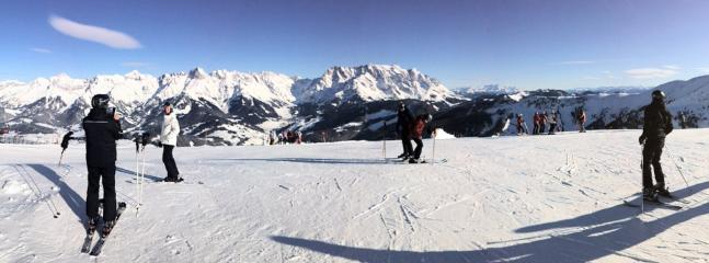 Top of Aberg. Breathtaking views and the start of numerous and varied ski runs