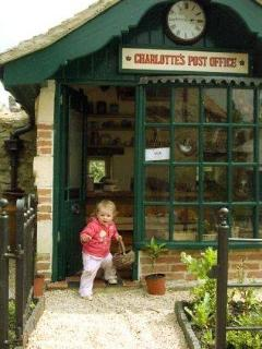 Carlotte's Post Office playhouse, for every childs dream playshop. You may have trouble leaving