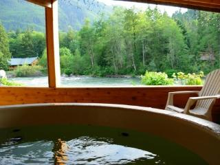 Romantic cabin on the Skykomish River with hot tub, Baring