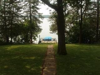 One of the few rentals on Rock Lake, Lake Mills