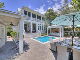 The Sandcastle, a Luxury Watercolor Home, Private Lot & Pool,White Coastal Decor, Santa Rosa Beach