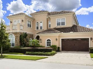 Exquisite Mansion   Luxury Pool Villa with Waterfall Pool, Slate Pool Table, Summer Kitchen with Built In BBQ & Flat Screen TVs, Kissimmee