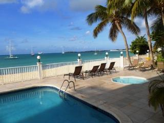 Simpson Bay Beach Condo #2, directly located on Simpson Bay Beach.