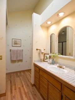 King master suite bathroom with jack and jill entrance