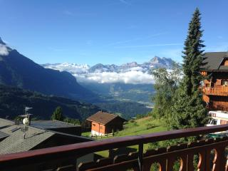 2 bed apt with panoramic views in the Swiss Alps, Villars-sur-Ollon