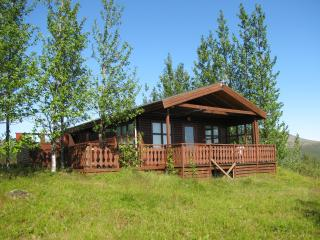 Two bedroom cottage with hot tub, Geysir