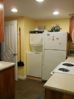 Apartment size stacked washer / dryer.