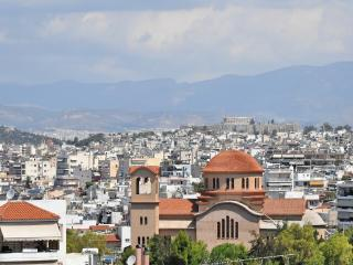 Panoramic views of Athens at Ilioupolis metro!, Atenas