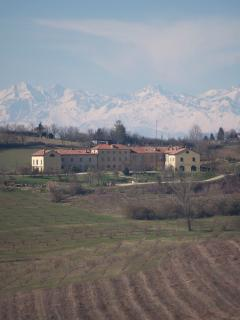 View on to the alps in the spring