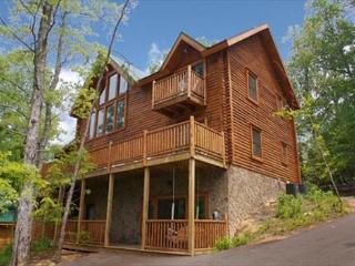 Treetop Views, 2 Master Balconies, Dogs Ok, Bunk Beds for 4, Screened Porch, Sevierville