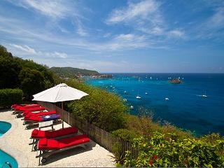 Private family villa high in Colombier with superb views of Gustavia Harbor WV DAN
