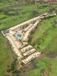 San Andres Resort from the air...surrounded by golf course