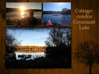 Cottage-condos Cayamant Lake with spa, Gracefield