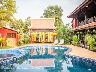 Veranda Suite 3 rooms in Khmer Villa, pool view, Siem Reap