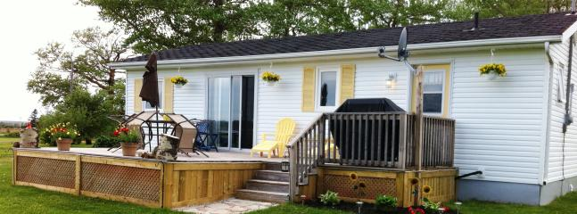A gem in beautiful Greenwich, PEI with waterviews and near beach. This is front of cottage.