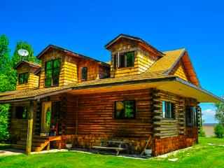 Rustic Lakefront Loghouse on 5 acres in Traverse B, Traverse Bay