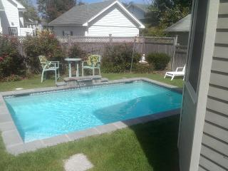 After beach splash in your own, heated to 80 degree, pool
