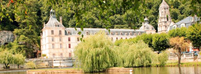 Brantome Abbey in the local historic market town for sightseeing, shopping and fun!