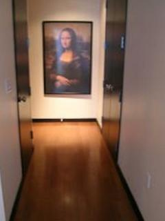 Hallway with additional closet space