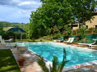 Country house with pool, surrounded by green hills, Ancona