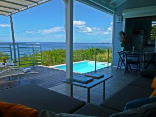 Oceanfront Blue Haven Villas, private pool, Bouillante