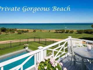 ALLEA - Athearn House Waterfront Estate,  Main and Guest Carriage House,  Pool, 300 Feet of White Sand Beach, Edgartown