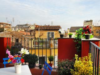 Wonderful terrace in the hearth of Rome
